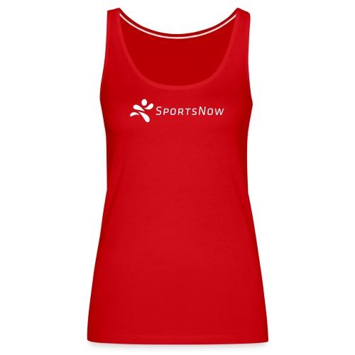 SportsNow-Logo Weiss - Frauen Premium Tank Top