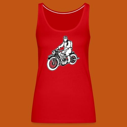Chopper / Motorrad 04_schwarz weiß - Frauen Premium Tank Top