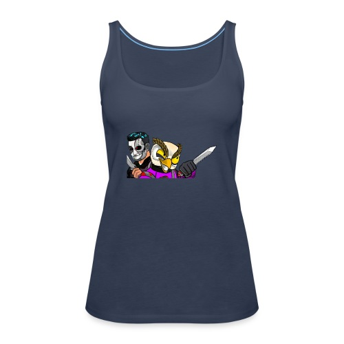 Black ops Extreme merch both my GTA characters - Women's Premium Tank Top