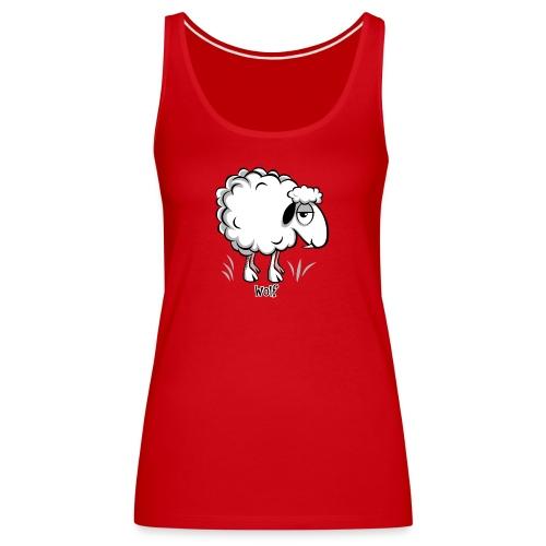 10-47 WOLF SHEEP- SUSI LAMMAS TUOTTEET - Naisten premium hihaton toppi