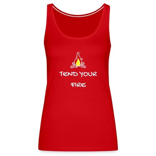 tendyourfire white 1 - Frauen Premium Tank Top
