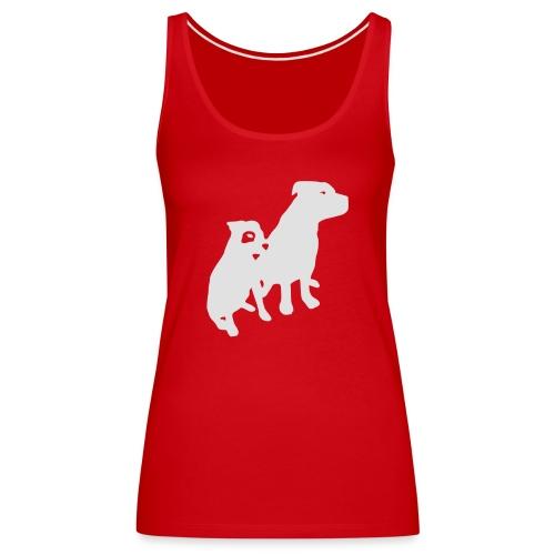 Doggy / zwei brave Hunde zum verschenken - Frauen Premium Tank Top