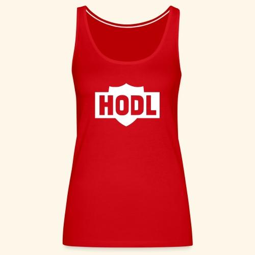 HODL TO THE MOON - Naisten premium hihaton toppi