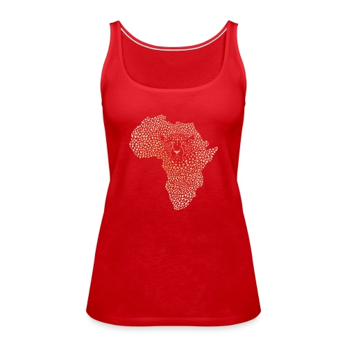 Symbol Afrika in der Gepardtarnung - Frauen Premium Tank Top