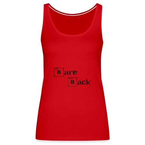 bare back negro - Camiseta de tirantes premium mujer