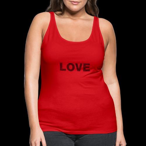 love - Tank top damski Premium