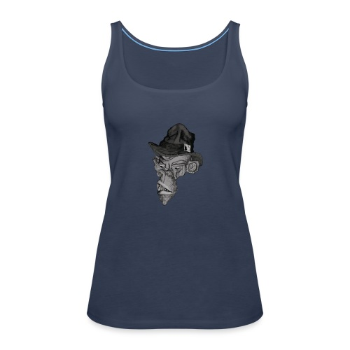 Monkey in the hat - Women's Premium Tank Top