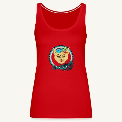 Rockabilly Cat - Frauen Premium Tank Top