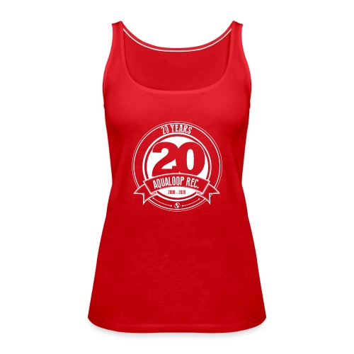 20 Years Aqualoop Records (white) - Women's Premium Tank Top