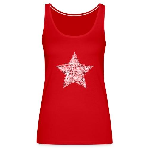Estrella blanca - Camiseta de tirantes premium mujer