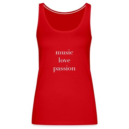 music love passion weiss - Frauen Premium Tank Top