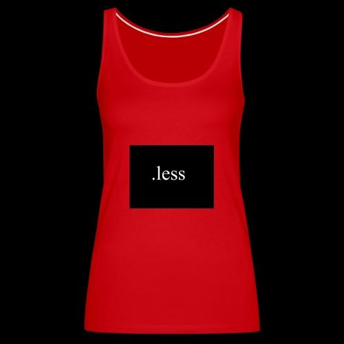 .less clothes - Frauen Premium Tank Top