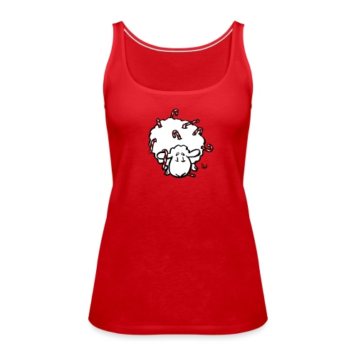 Candy Cane Sheep - Women's Premium Tank Top