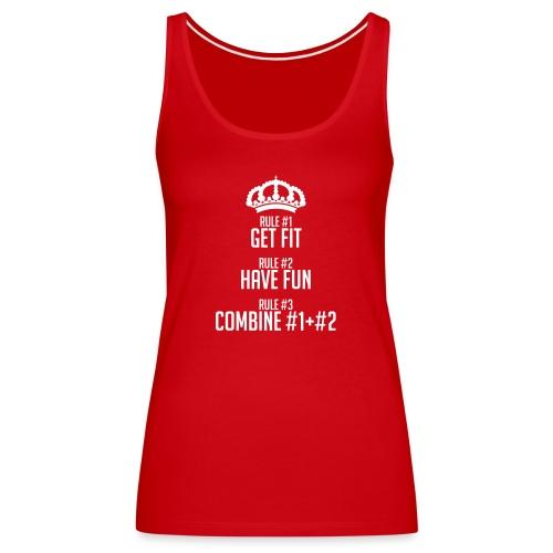 FITNESS RULES - Camiseta de tirantes premium mujer