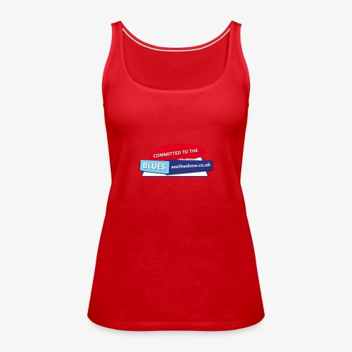 Committed to the Blues website logo - Women's Premium Tank Top