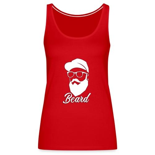 beard en blanco - Camiseta de tirantes premium mujer