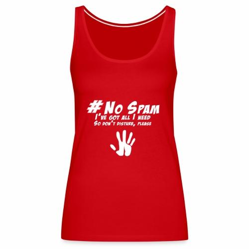 no spam - Camiseta de tirantes premium mujer
