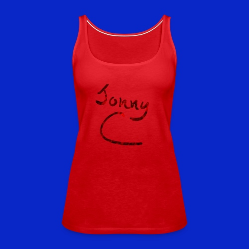 Jonny C Red Handwriting - Women's Premium Tank Top