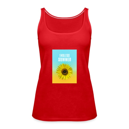 sunflower endless summer Sonnenblume Sommer - Women's Premium Tank Top