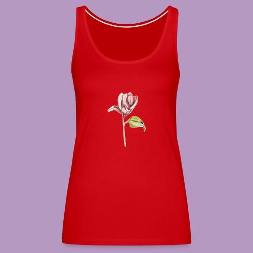 Rosa rosa garabatos - Camiseta de tirantes premium mujer