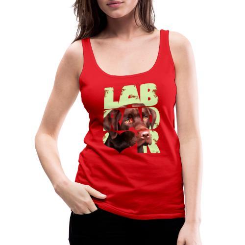 NASSU Labrador Brown II - Naisten premium hihaton toppi