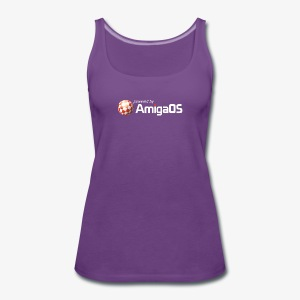 poweredByAmigaOS weiß - Women's Premium Tank Top