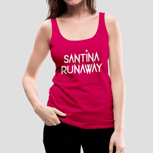 DJ Santina Runaway - Logo - Women's Premium Tank Top