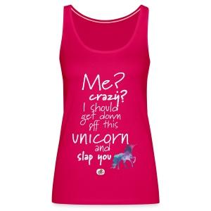 Crazy Unicorn - Light with picture - Women's Premium Tank Top