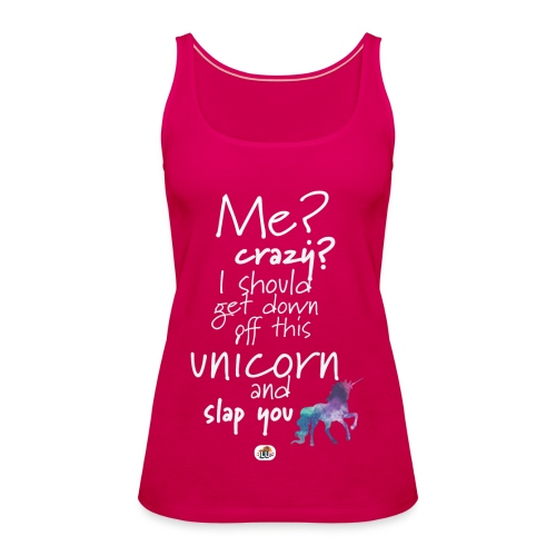 Crazy Unicorn - Light with picture - Women's Premium Tank Top