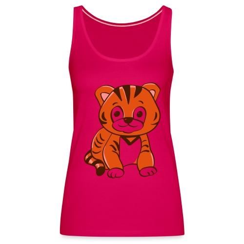 Bébé tigre orange et noir - Débardeur Premium Femme