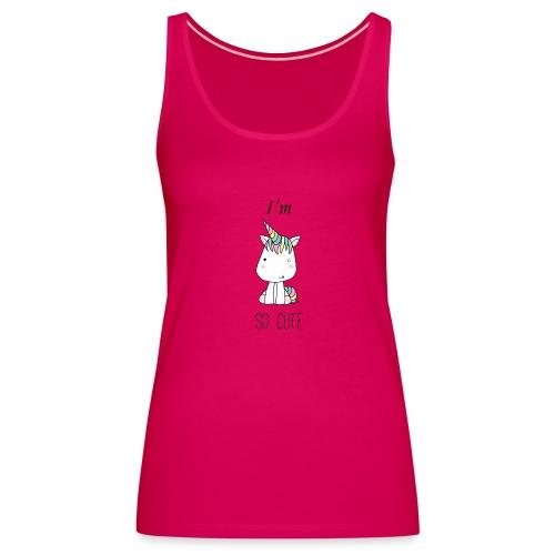 CUTE UNI - Camiseta de tirantes premium mujer