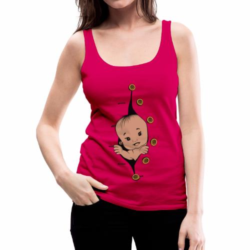 Design 1 baby without smile buttons right - Débardeur Premium Femme