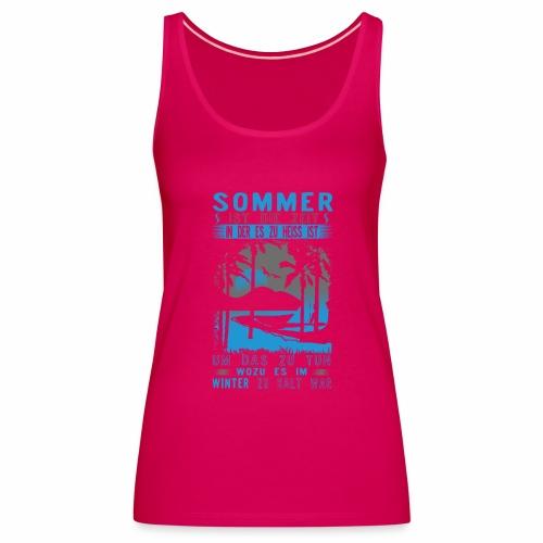 Sommer, Sonne, Strand - Frauen Premium Tank Top