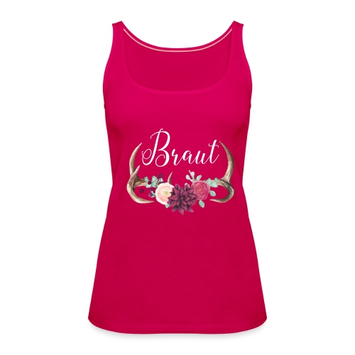 Brautshirt Geweih Boho - Frauen Premium Tank Top