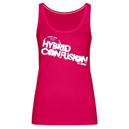 hybrid tshirt new font raster quadrat 3 - Women's Premium Tank Top