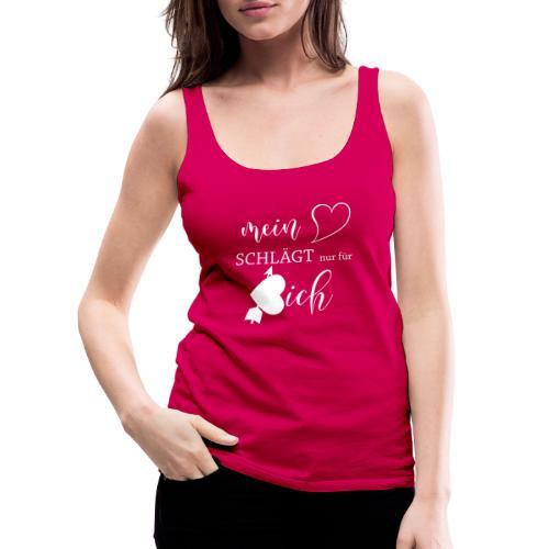 Mein Herz schlägt nur für dich, Valentinstag - Frauen Premium Tank Top