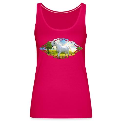 Unicorn Framed Landscape - Vrouwen Premium tank top