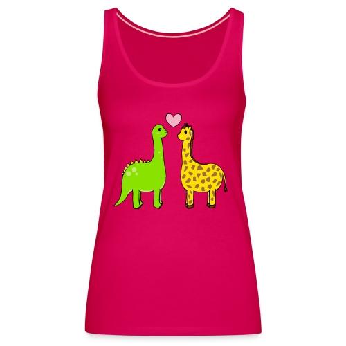 Dino Giraffe True - Premiumtanktopp dam