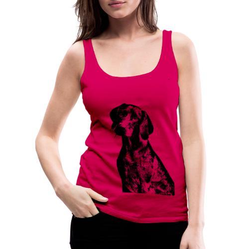 portrait of dog - Canotta premium da donna