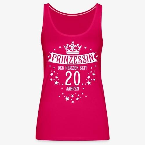15 Prinzessin der Herzen seit 20 Jahren Geburtstag - Frauen Premium Tank Top