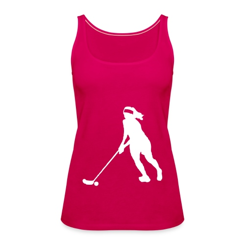 floorball lady - Frauen Premium Tank Top
