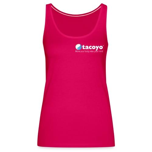 Borstlogo WIT inclusief move your body - Vrouwen Premium tank top