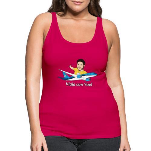 Frequent Flyer Yellow Viaja con Yoel - Camiseta de tirantes premium mujer