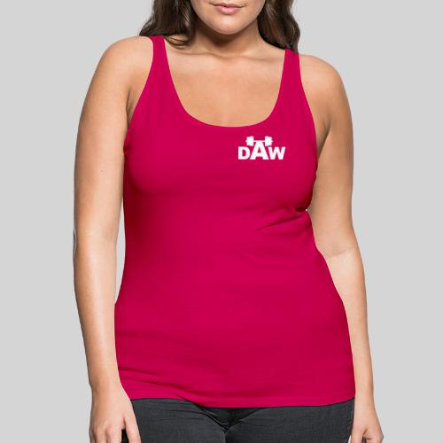 DAW white groot middle chest and back - Women's Premium Tank Top