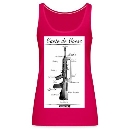 cartedecorse1 - Débardeur Premium Femme
