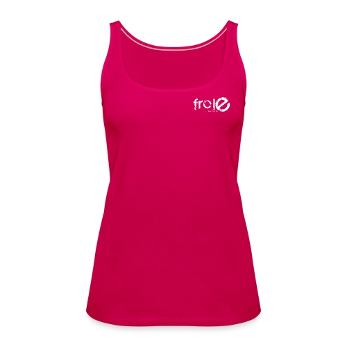 logo solo frole bianco png - Women's Premium Tank Top