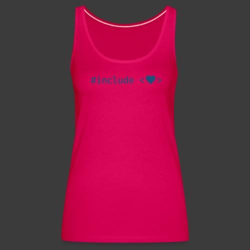 Blue Include Heart - Women's Premium Tank Top