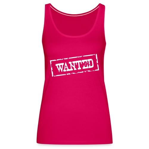 Wanted Frame Rand Rahmen Polizei Police - Frauen Premium Tank Top