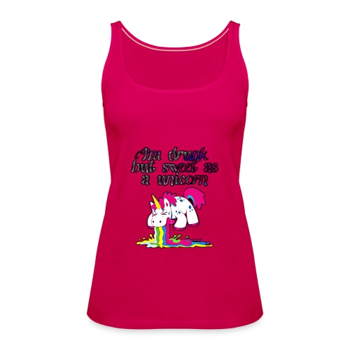 Sweet drunken unicorn - Frauen Premium Tank Top