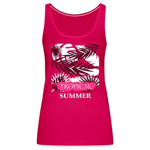 Tropical Summer Leaf - Frauen Premium Tank Top